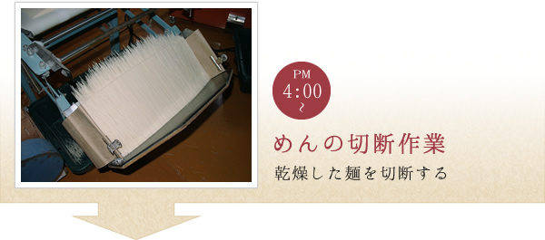 麺の切断作業